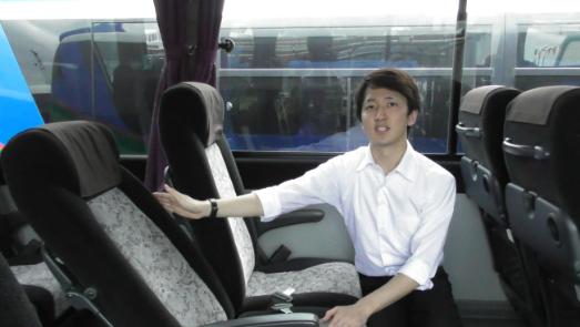 貸切バスのリクライニングシート